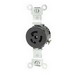 Leviton 4710 Specification Grade Twist Locking Single Receptacle; Flush Mount, 125 Volt, 15 Amp, 2-Pole, 3-Wire, NEMA 5-15R, Black