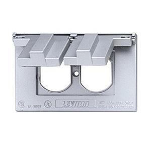 Leviton 4970 1-Gang Weather-Resistant Cover; Device Mount, Die-Cast Zinc, Gray