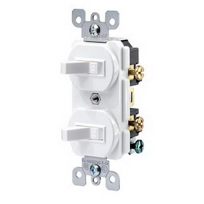 Leviton 5224-2 Decora® Duplex Combination Switch; 120/277 Volt AC, 15 Amp, 1-Pole, Grounding, Brown