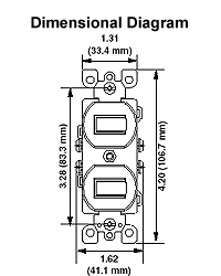 Leviton 5224-2 Combination Toggle Switches - Crescent Electric ...