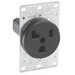 Leviton 5371 Straight Blade Power Receptacle; Flush Mount, 125 Volt, 30 Amp, 2-Pole, 3-Wire, NEMA 5-30R, Black