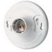 Leviton 8829-CW4 Keyless Incandescent Lampholder; 600 Volt, 660 Watt, Medium Base, Twist-lock, Box Mount, White