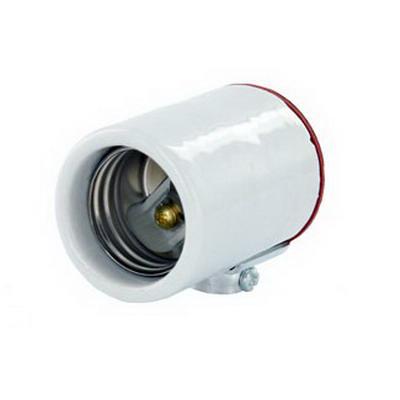 Leviton 10091 Keyless Incandescent Lampholder; 250 Volt, 660 Watt, Medium Base, 1/8-27 Pipe Cap Mount, White