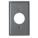 Leviton 84004-40 Standard Size 1-Gang Single Receptacle Plate; Device Mount, 302 Stainless Steel