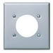 Leviton 84026 Standard Size 2-Gang Single Receptacle Plate; Device Mount, 430 Stainless Steel