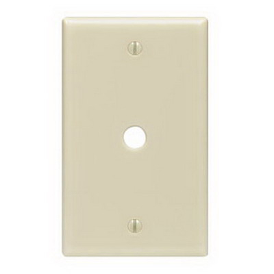 Leviton 86013 Standard Size 1-Gang Wallplate; Box Mount, Thermoset, Ivory