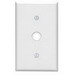 Leviton 88018 Standard Size 1-Gang Wallplate; Strap Mount, Thermoset, White