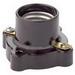 Leviton 9063 Keyless Incandescent Lampholder; 250 Volt, 660 Watt, Medium Base, Pony Cleat Mount, Brown