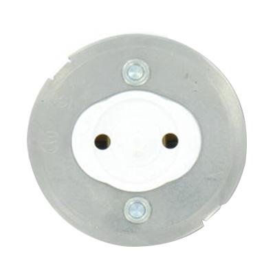 Leviton 13519 Fluorescent Lampholder; 600 Volt, 660 Watt, Snap In Mount, White