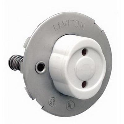 Leviton 13518 Fluorescent Lampholder; 600 Volt, 660 Watt, Snap In Mount, White
