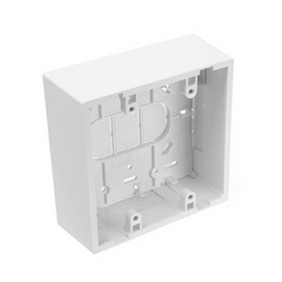 Leviton 42777-2WA 2-Gang Back Box; 1.890 Inch Deep, Surface Mount, Fire-Retardant Plastic, White