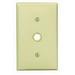 Leviton 80718-W Standard Size 1-Gang Wallplate; Strap Mount, Thermoplastic Nylon, White