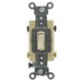 Leviton 54504-2T Commercial Toggle Framed 4-Way AC Quiet Switch; 2-Pole, 120/277 Volt AC, 15 Amp, Light Almond