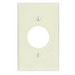Leviton 78004 Standard Size 1-Gang Single Receptacle Plate; Device Mount, Thermoset, Light Almond