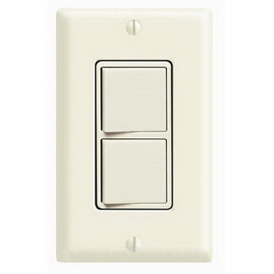 Leviton 5641-T Decora® 3-Way AC Combination Switch; 120/277 Volt AC, 15 Amp, 1-Pole, Grounding, Light Almond