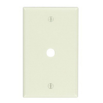Leviton 78013 Standard Size 1-Gang Wallplate; Box Mount, Thermoset, Light Almond