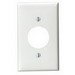 Leviton 80704-T Standard Size 1-Gang Single Receptacle Plate; Device Mount, Thermoplastic Nylon, Light Almond