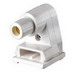 Leviton 2536 Fluorescent Lampholder; 1000 Volt, 660 Watt, Pedestal Slide-On/Lock-On Mount, White