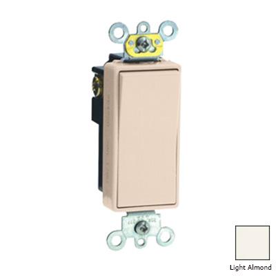 Leviton 5621-2T Decora Plug&reg Commercial Rocker AC Quiet Switch 1-Pole  120/277 Volt AC  20 Amp  Light Almond