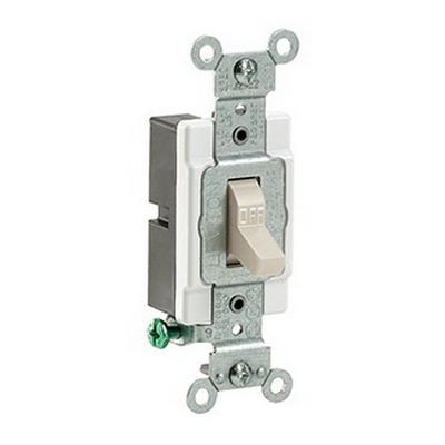 Leviton CS115-2T Commercial Toggle AC Quiet Switch 1-Pole  120/277 Volt AC  15 Amp  Light Almond