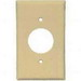 Leviton 80720-I Standard Size 1-Gang Single Receptacle Plate; Device Mount, Thermoplastic Nylon, Ivory