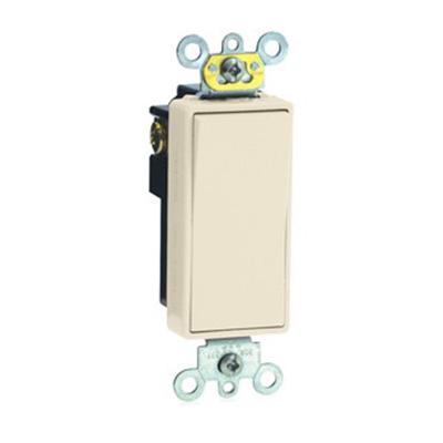 Leviton 5621-2I Decora® Commercial Rocker AC Quiet Switch; 1-Pole, 120/277 Volt AC, 20 Amp, Ivory