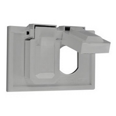 Leviton 4976-GY 1-Gang Weather-Resistant Cover; Device Mount, Thermoplastic Nylon, Gray