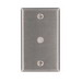 Leviton 84061-40 Standard Size 1-Gang Wallplate; Box Mount, 302 Stainless Steel