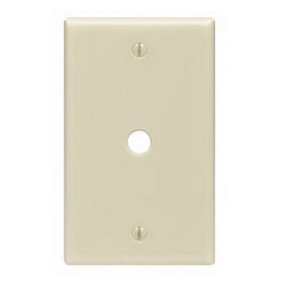 Leviton PJ11-T Midway Size 1-Gang Wallplate; Strap Mount, Thermoplastic Nylon, Light Almond