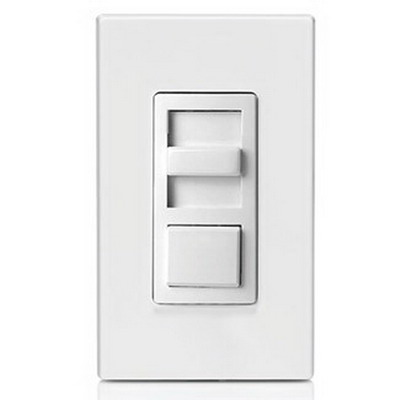 Leviton IPX10-10Z IllumaTech Single Pole 3-Way Electro-Mechanical Preset Slide Dimmer; 120 Volt AC, 1000 Watt, Fluorescent, White