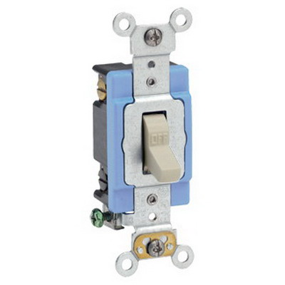 Leviton 1202-2I Toggle AC Quiet Switch; 2-Pole, 120/277 Volt AC, 15 Amp, Ivory