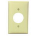 Leviton 80704-I Standard Size 1-Gang Single Receptacle Plate; Device Mount, Thermoplastic Nylon, Ivory