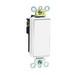 Leviton 5621-2W Decora® Commercial Rocker AC Quiet Light Switch; 1-Pole, 120/277 Volt AC, 20 Amp, White