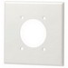 Leviton 80726-I Standard Size 2-Gang Single Receptacle Plate; Device Mount, Thermoplastic Nylon, Ivory