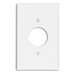 Leviton 80504-W Midway Size 1-Gang Single Receptacle Plate; Device Mount, Thermoset, White