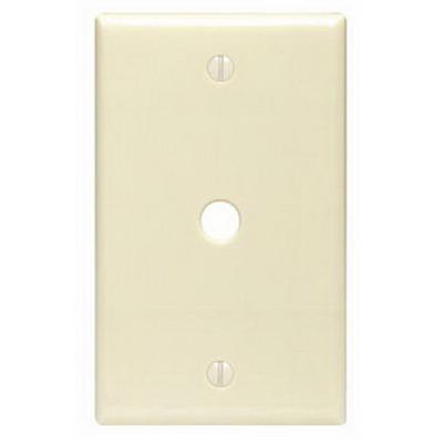 Leviton 80513-W Midway Size 1-Gang Wallplate; Box Mount, Thermoset, White