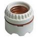 Leviton 9350 Keyless Incandescent Lampholder; 250 Volt, 660 Watt, Medium Base, Ring Mount, White