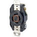 Leviton 2410 V-0-MAX™ Twist Locking Single Receptacle; Flush Mount, 125/250 Volt, 20 Amp, 3-Pole, 4-Wire, NEMA L14-20R, Black
