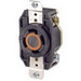 Leviton 2710 V-0-MAX™ Industrial Grade Locking Single Receptacle; Flush Mount, 125/250 Volt, 30 Amp, 3-Pole, 4-Wire, NEMA L14-30R, Black