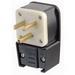 Leviton 9530-P Grounding Straight Blade Angle Power Plug; 30 Amp, 125 Volt, 2-Pole, 3-Wire, NEMA 5-30P, Black