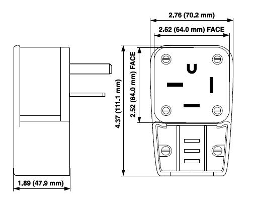 leviton 9650-p straight blade plugs