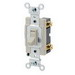 Leviton 54521-2I Commercial Toggle Framed AC Quiet Switch; 1-Pole, 120/277 Volt AC, 20 Amp, Ivory