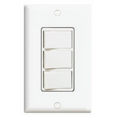 Leviton 1755-W Decora® AC Combination Switch; 120 Volt, 15 Amp Switch, 20 Amp Total Device, 1-Pole, Non-Grounding, White