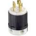 Leviton 3331-C Black & White® Polarized Non-Grounding Locking Plug; 30 Amp, 125/250 Volt, 3-Pole, 3-Wire, Black/White