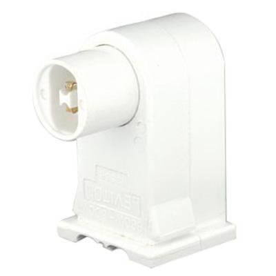 Leviton 13556-W Fluorescent Lampholder; 1000 Volt, 660 Watt, Slide-On Mount, White