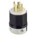 Leviton 2751 Black & White® Polarized Non-Grounding Locking Plug; 30 Amp, 120/208 Volt, 4-Pole, 4-Wire, NEMA L18-30P, Black/White