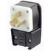 Leviton 9450-P Non-Grounding Straight Blade Angle Power Plug; 50 Amp, 125/250 Volt, 3-Pole, 3-Wire, NEMA 10-50P