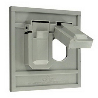 Leviton 4986-GY 1-Gang Weather-Resistant Cover; Device Mount, Thermoplastic Nylon, Gray