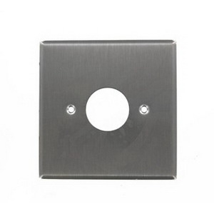 Leviton 84092-40 Standard Size 2-Gang Single Receptacle Plate; Device Mount, 302 Stainless Steel