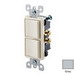 Leviton 5634-GY Decora® AC Combination Switch; 120/277 Volt AC, 15 Amp, 1-Pole, Grounding, Gray